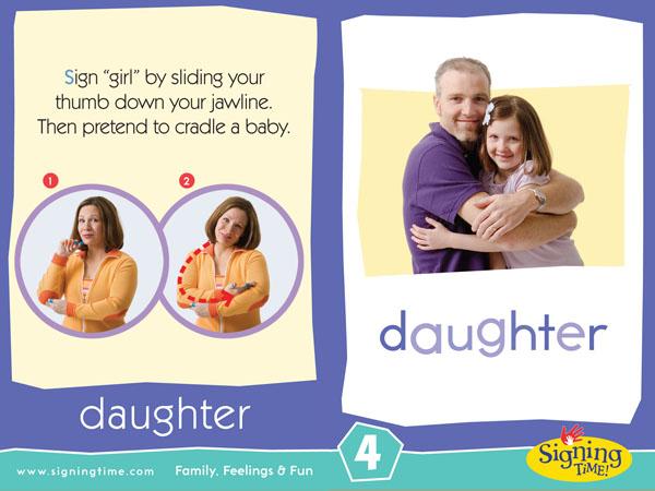 Daughter Sign Language ASL Dictionary