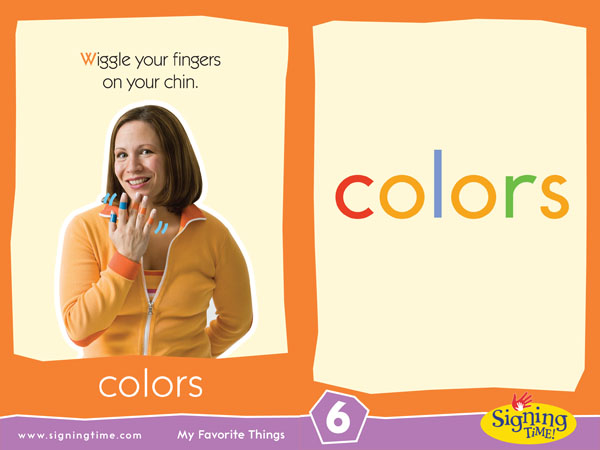 Colors American Sign Language Dictionary